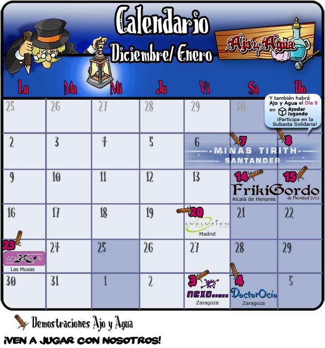 calendario invierno 2013