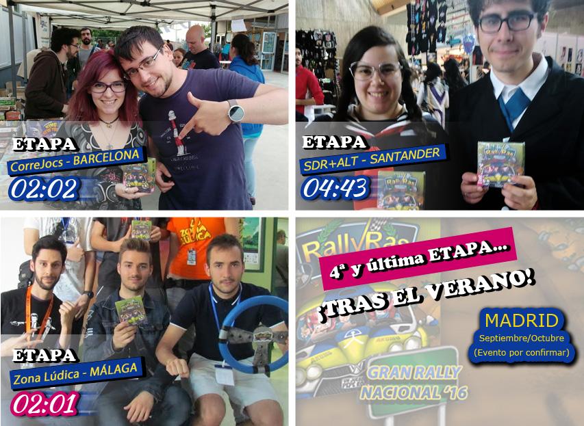 Ganadores Etapa RallyRas