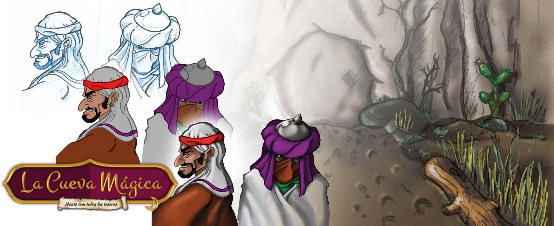 Ilustración juego de mesa La Cueva Mágica