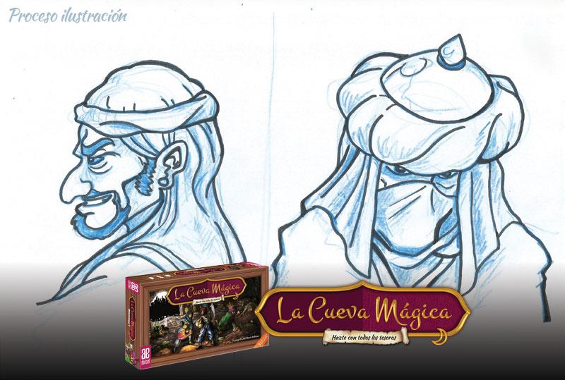 Boceto ladrones La Cueva Mágica