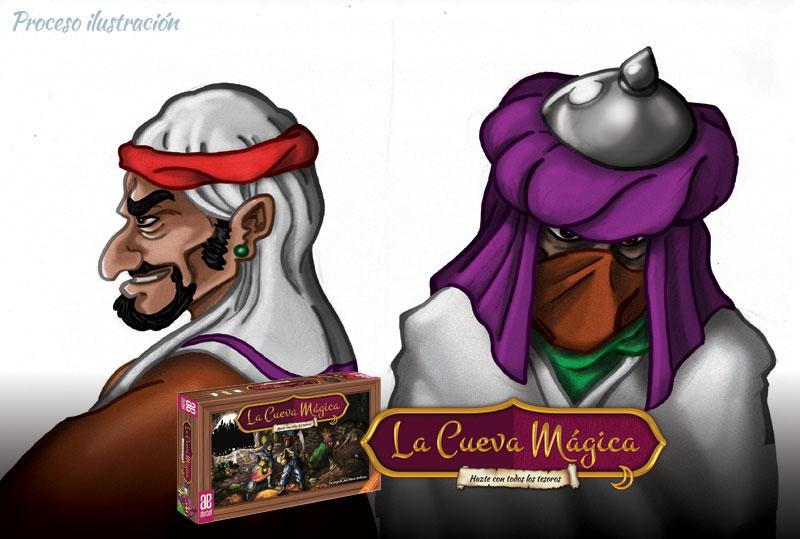 Ladrones La Cueva Mágica, juego de mesa